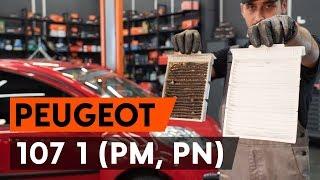 Как се сменят Филтър въздух за вътрешно пространство на PEUGEOT 107 - онлайн безплатно видео