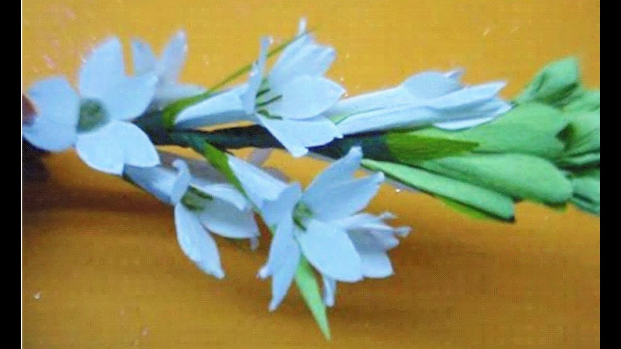 How To Make Paper Flower Tuberose Rajnigandha Flower 40 Youtube