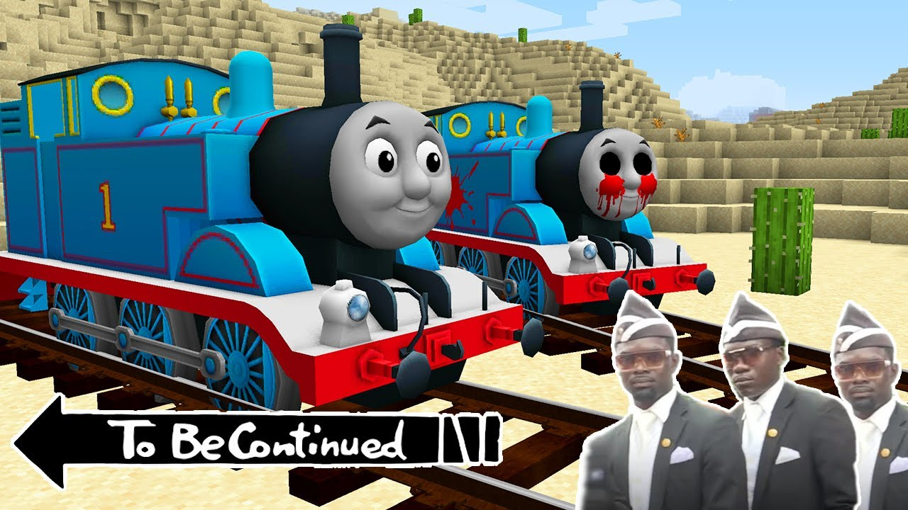 Return of THOMAS THE TANK ENGINE.EXE in Minecraft - Coffin Meme Real Pj Masks