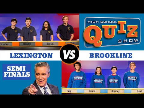 High School Quiz Show - Semifinal #1: Brookline vs. Lexington (913)