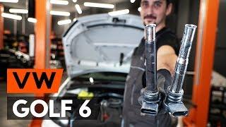 Kaip pakeisti Uždegimo ritė VW GOLF VI (5K1) - vaizdo vadovas