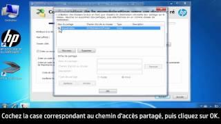 Configuration de la Numérisation vers dossier réseau avec l'assistant du logiciel HP dans Windows
