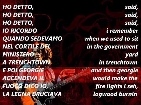 bob marley - no woman no cry traduzione in italiano e lyrics