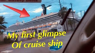 First Glimpse Of Cruise Ship