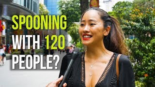 SPOONING with 120 PEOPLE? | Singapore's First Anti-Love Event