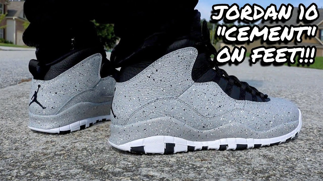 new concept 607a5 ead5d EARLY REVIEW!!! JORDAN 10 CEMENT