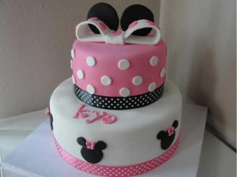 Easy Minnie Mouse Birthday Cake YouTube