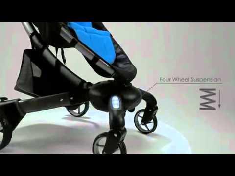 4 Moms Origami Power Folding Stroller Youtube