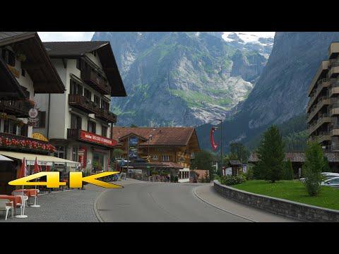 Lauterbrunnen to Grindelwald Switzerland 4K 60p 🇨🇭