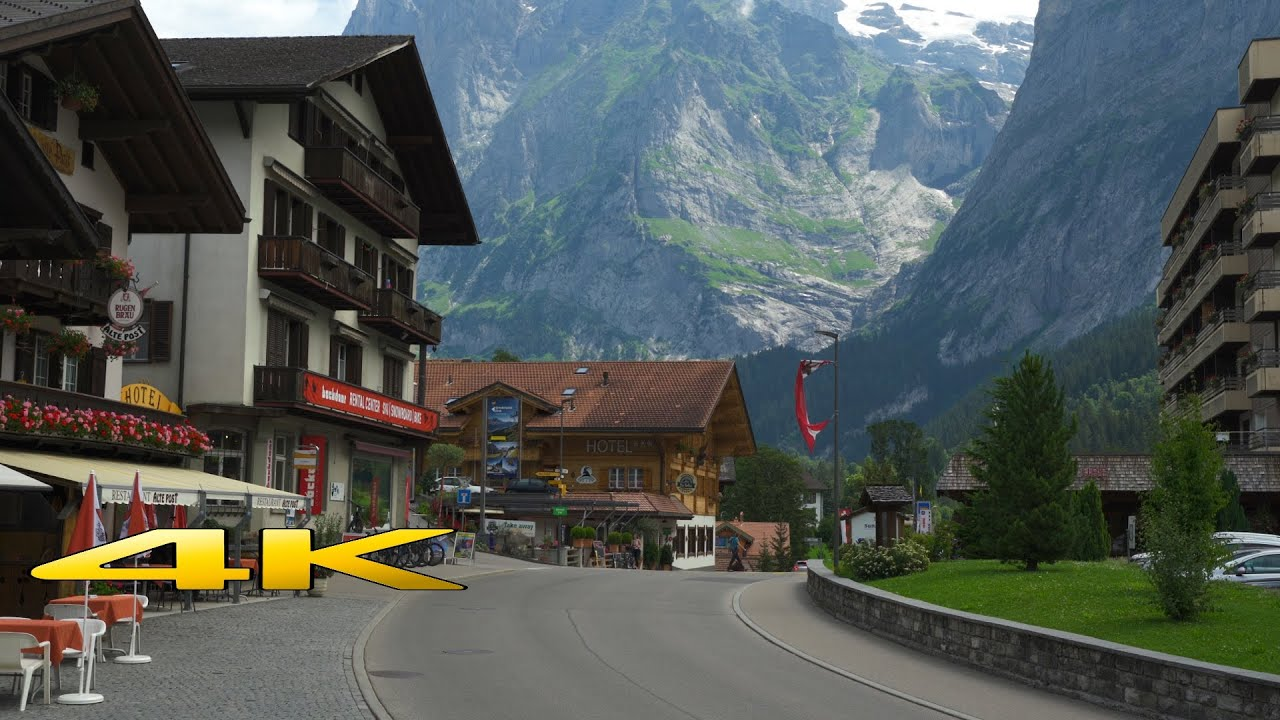 Lauterbrunnen to Grindelwald Switzerland 4K 60p 🇨🇭