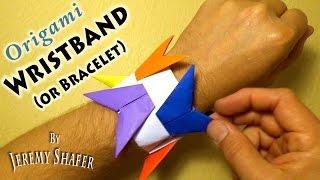 Origami Wristband / Bracelet Origami Holder