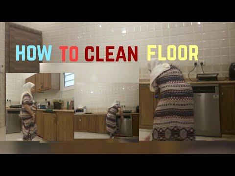 How to clean floor kitchen