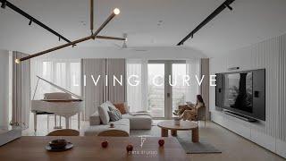 LIVING CURVE   Condominium   Interior design    by Pins studio