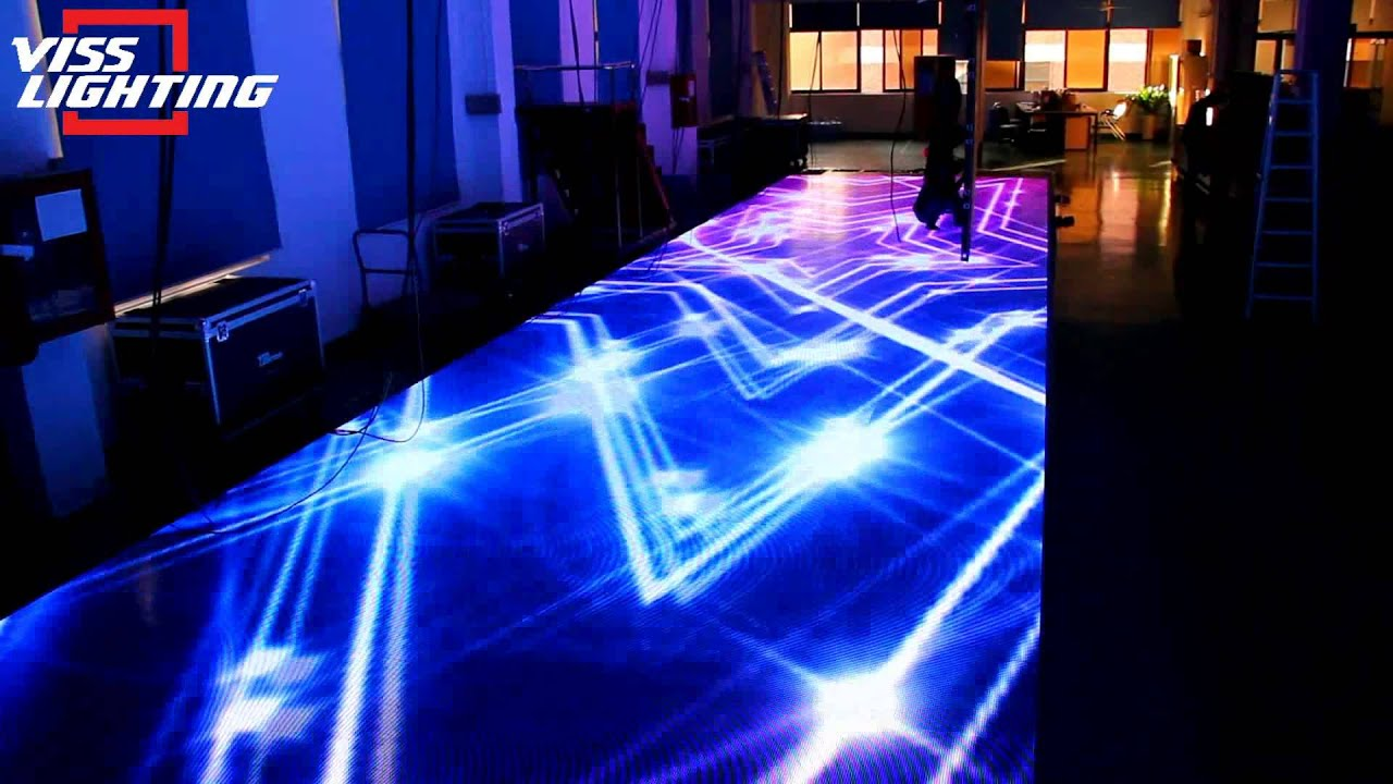 Viss Lighting led floor screen led dance floor  YouTube