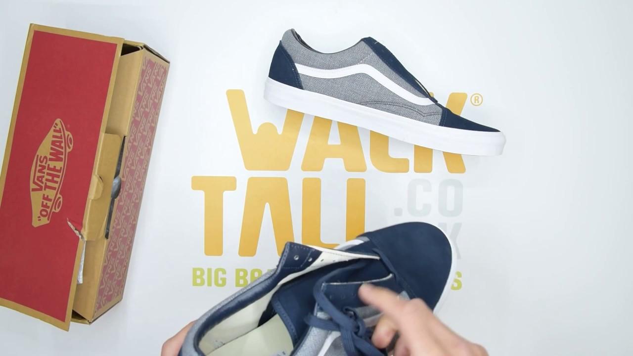 Vans UA Old Skool Suiting Blueberry Unboxing | Walktall