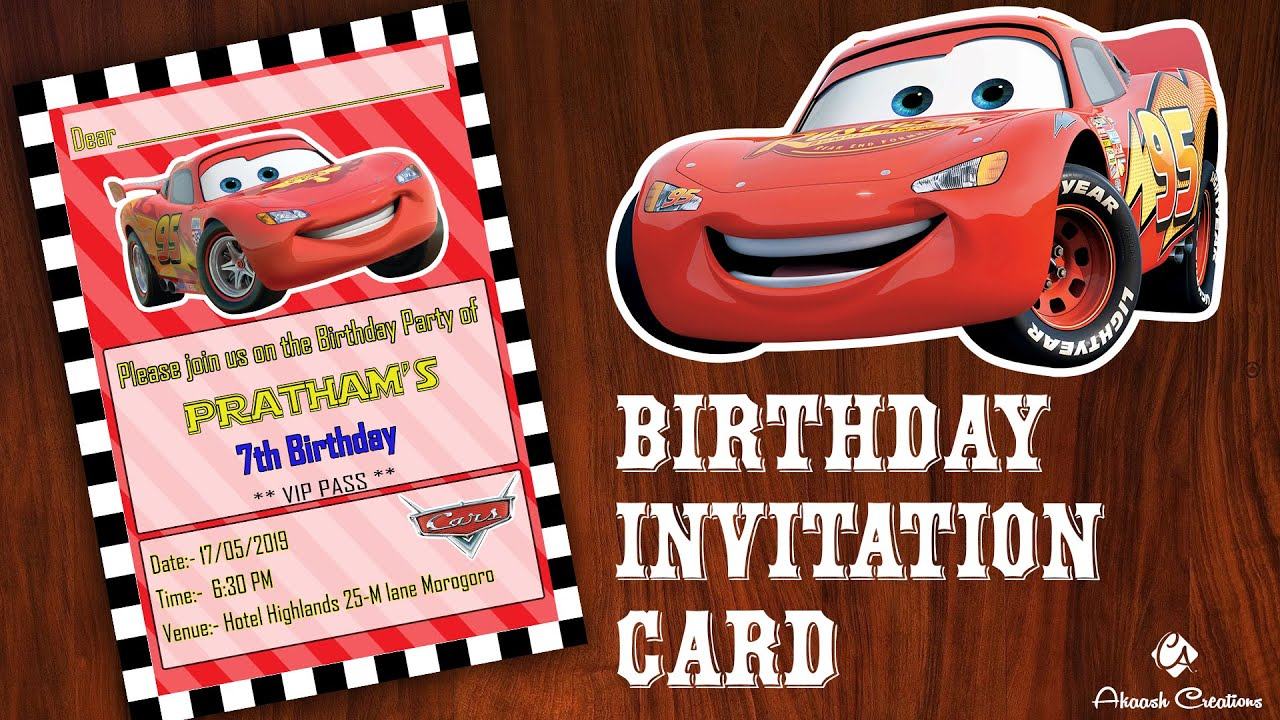 cars themed birthday invitation card design disney cars birthday invitation card birthday party