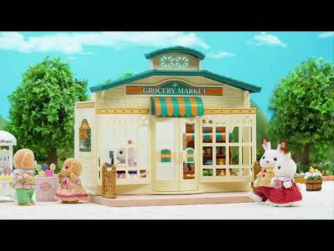 Sylvanian Families Shopping At The Grocery Market - Smyths Toys