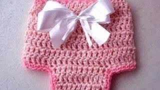 How To Crochet A Diaper Cover Newborn To 3 Months, Crochet, Diy, How To, Youtube Video