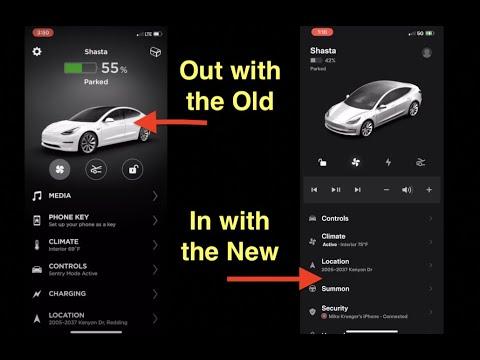 The New Tesla App Version 4.0