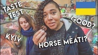 Tourists React to UKRAINIAN FOOD with Kyiv Tasty Tours