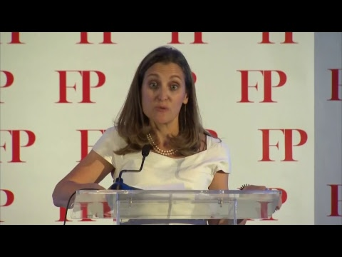 Foreign Minister Chrystia Freeland receives Diplomat of the Year Award