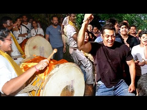 Salman Khan's CRAZY Dance On Puneri Dhol...