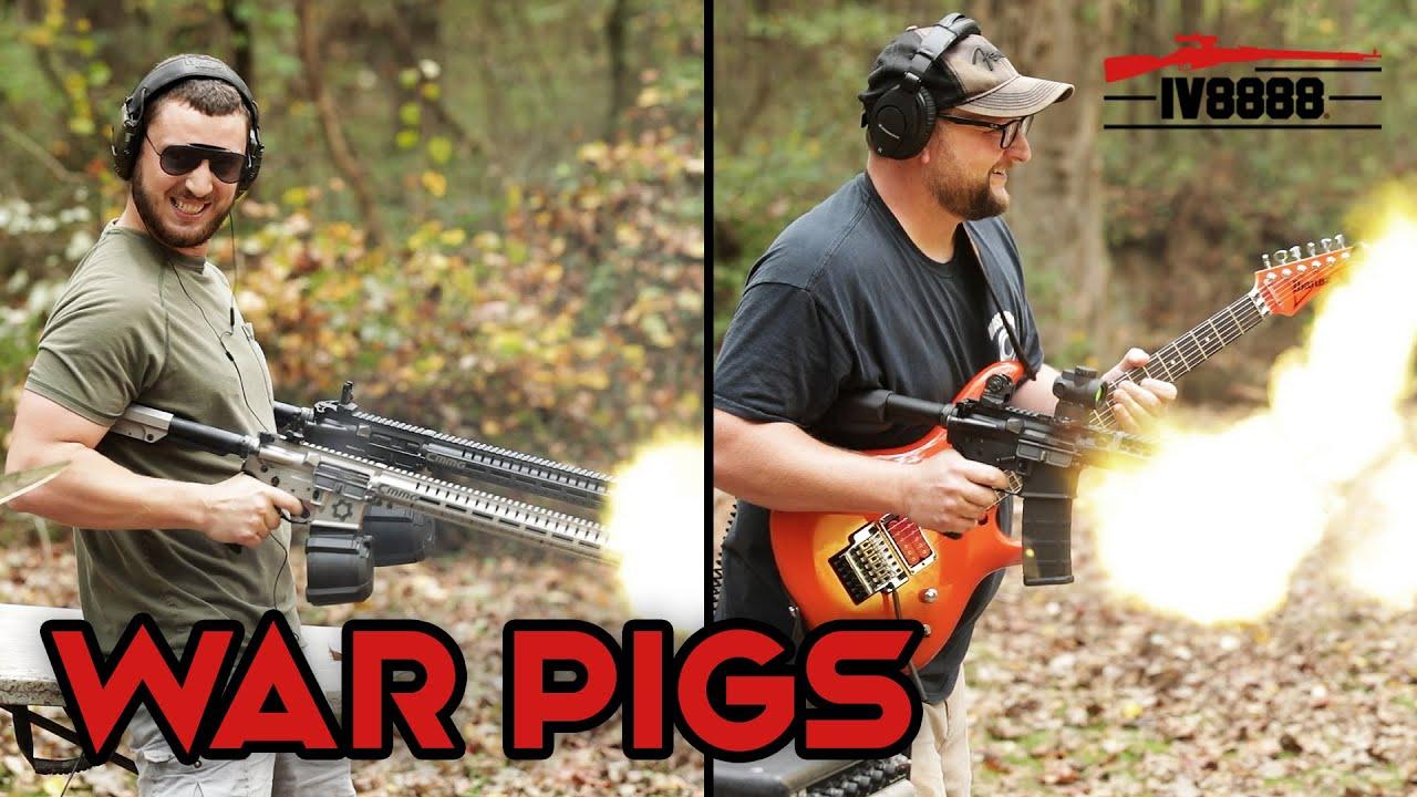 "Black Sabbath - ""War Pigs"" Gun, Guitar, Drum Cover with IraqVeteran8888 #gundrummer"