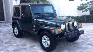 2002 Jeep Wrangler Sahara 4x4 for sale by Auto Europa Naples