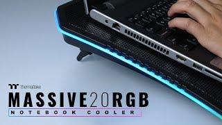 Thermaltake's Massive 20 RGB Notebook Cooler