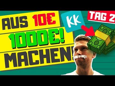 Aus 10 Euro 1000 Euro machen!  TAG 2  ERSTER VERKAUF!  Mit Kleiderkreisel Geld verdienen?
