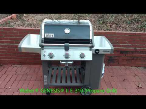 weber genesis ii e 310 propane gas grill youtube. Black Bedroom Furniture Sets. Home Design Ideas
