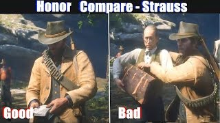 RDR2 Good Arthur vs Bad Arthur Strauss Gets Kicked Out - Red Dead Redemption 2 PS4 Pro thumbnail