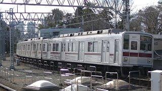 東武9000系9107FF特急森林公園行き 東横線多摩川駅通過