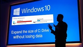Expand the size of C Drive without losing and formatting data: Windows 10 tips and tricks 2017