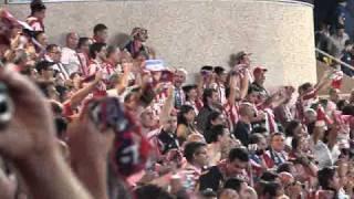 27/08/2010. ATLÉTICO MADRID 2- INTER MILAN 0. FINAL DEL PARTIDO