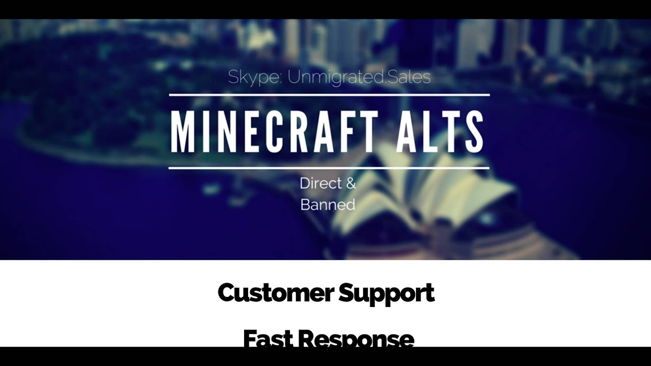 Minecraft Unmigrated Accounts Shop
