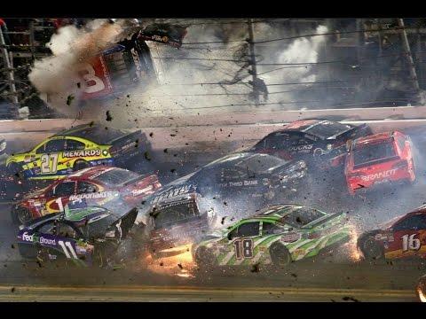 Nascar - Sprint Cup Series - 2015 - Crash Compilation (Original Sound - No Music)
