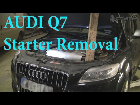 Audi Q7 Starter Removal - YouTube