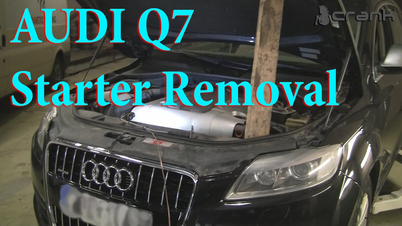 audi q7 starter removal youtube. Black Bedroom Furniture Sets. Home Design Ideas