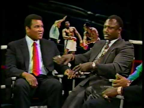Bryant Gumble Interviews Joe Frazier Ken Norton Larry Holmes Muhammad Ali 1989 Part 2