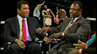Bryant Gumble Interviews Joe Frazier Ken Norton Larry Holmes Muhammad Ali 1989 Part 2
