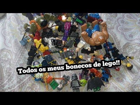 Todos os meu bonecos de lego!!!!(muito legos!)