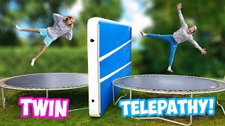 Twin Telepathy TRAMPOLIN CHALLENGE!