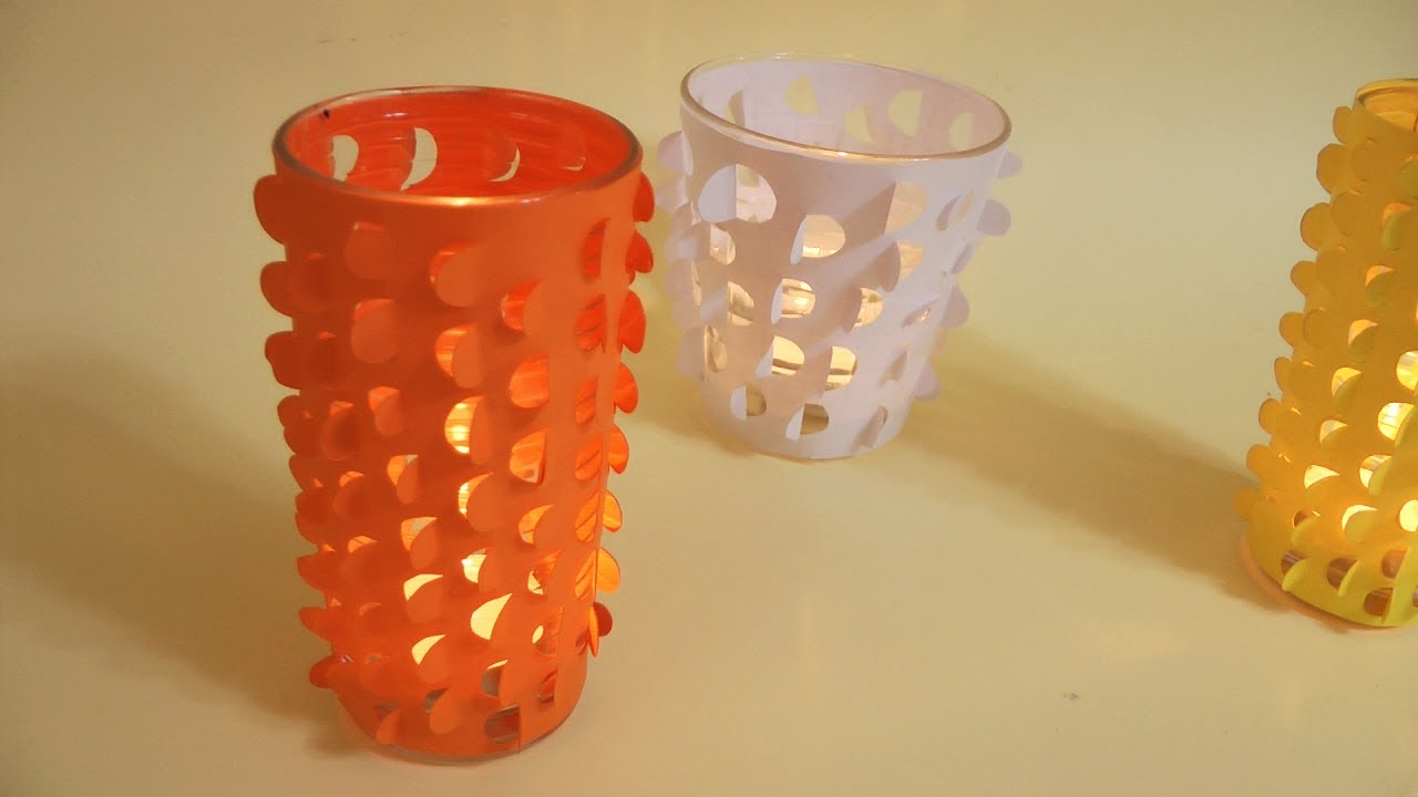 Porta velas decorativo manualidades para todos youtube - Para hacer manualidades ...