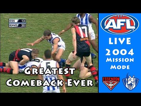 GREATEST COMEBACK EVER - AFL 2004 Mission Mode