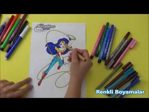 Wonder Woman Dc Superhero Boyama Sayfasi Youtube
