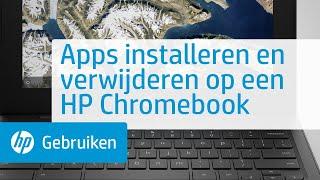 Apps installeren en verwijderen op een HP Chromebook