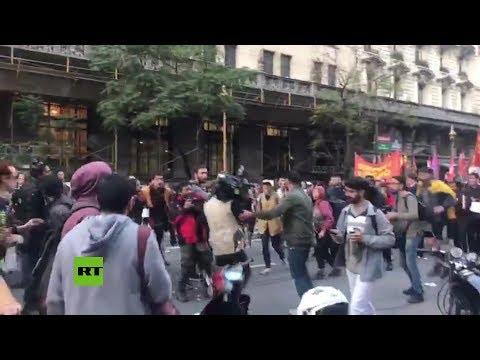 Argentina: Agreden A Periodistas Durante Manifestación Frente Al Consulado De Chile