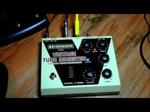Behringer Vintage Tube Monster (VT999) Overdrive/Distortion Demo