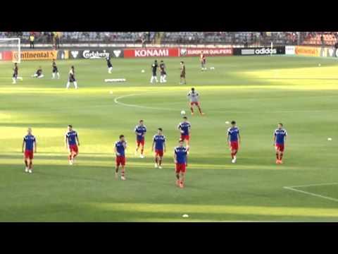 разминка игроков Армения Португалия